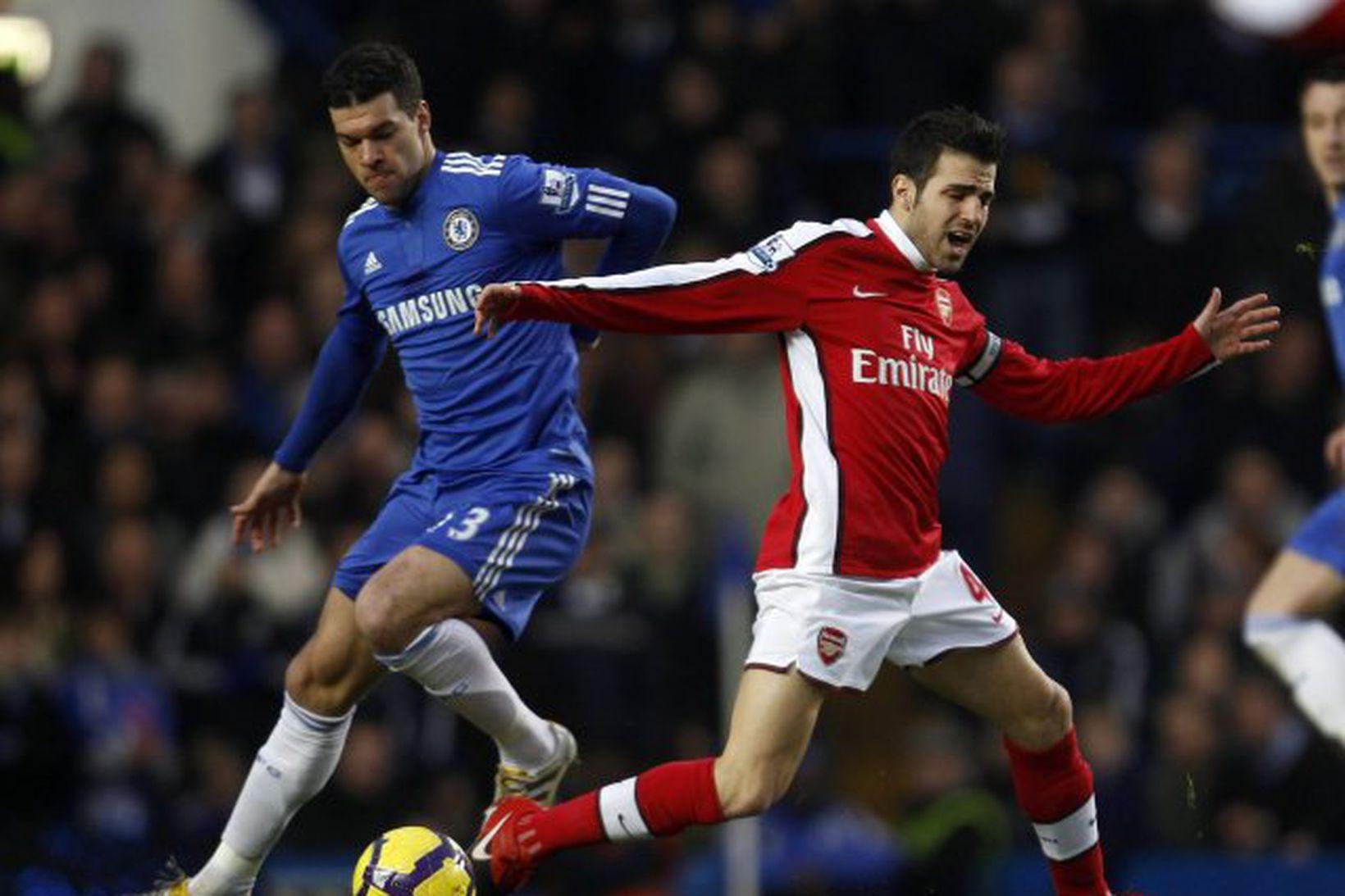 Michael Ballack í leik með Chelsea gegn Arsenal.