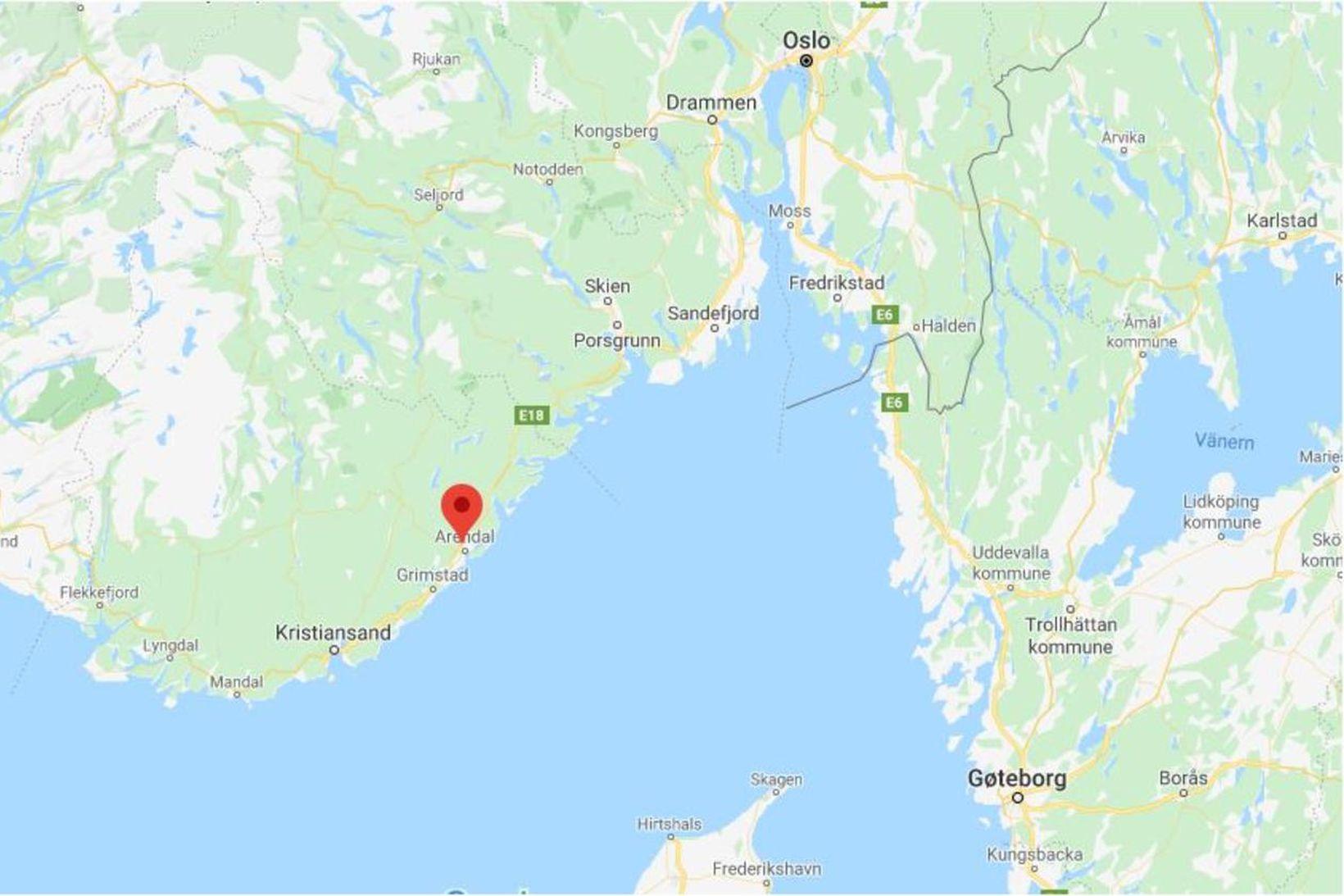 Steinsås-járnnámurnar gömlu eru í Arendal, skammt norðaustur af Kristiansand í …