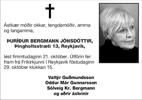 Þuríður Bergmann Jónsdóttir,