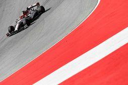 Kimi Räikkönen á seinni æfingu dagsins í Spielberg í Austurríki.