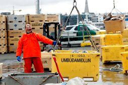 Útflutningsverðmæti sjávarafurða breyttist lítið milli ára í krónum en 9% samdráttur varð í erlendri mynt.