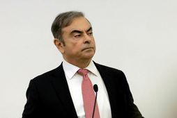 Carlos Ghosn, fyrrverandi forstjóri japanska bifreiðaframleiðandans Nissan, á blaðamannafundi í Beirút í Líbanon.