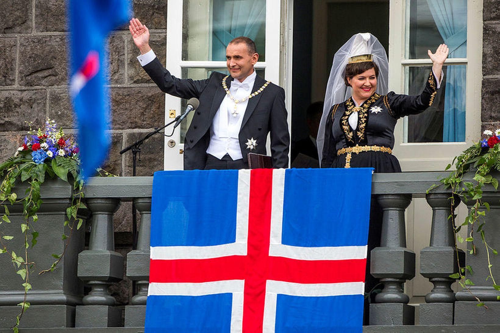 Forsetahjón, Guðni Th. Jóhannesson, forseti Íslands, og Eliza Reid.