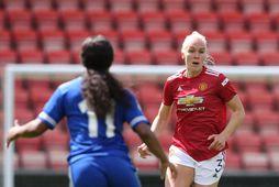 María Þórisdóttir í leik með Manchester United í vetur.