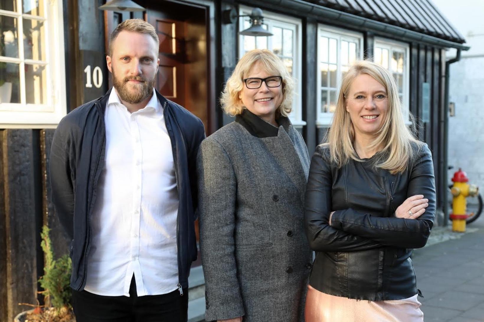 Hilmar Geir Eiðsson, Huld Magnúsdóttir og Þorbjörg Helga Vigfúsdóttir.