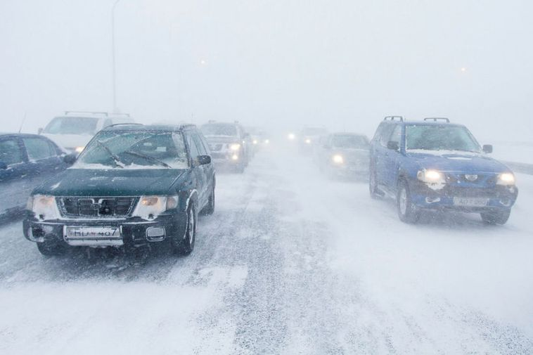 Snow is expected on highland roads in North Iceland.