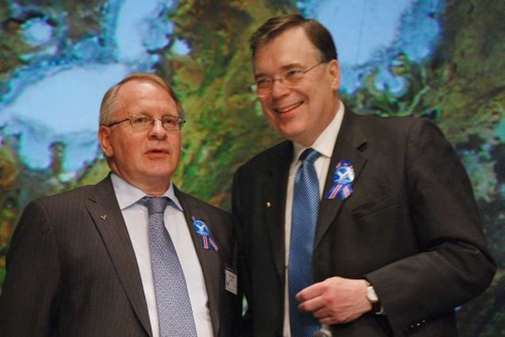Vilhjálmur Egilsson og Geir H. Haarde. Vilhjálmur stýrði endurreisnarnefnd flokksins.