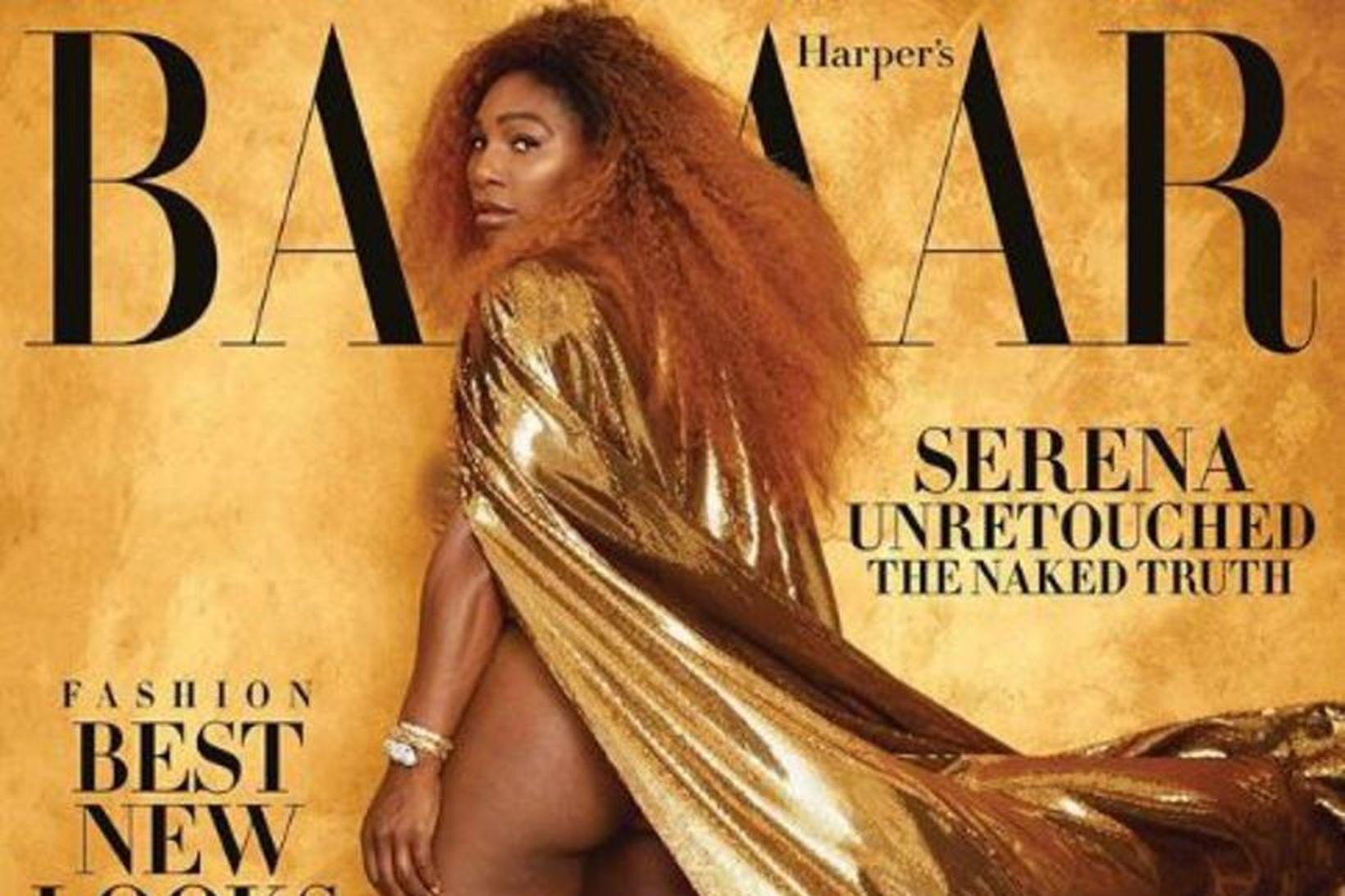 Serena Williams á forsíðu Harper's Bazaar.