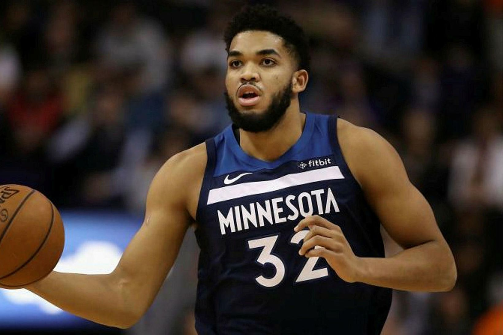 Karl-Anthony Towns í leik með Minnesota Timberwolves.
