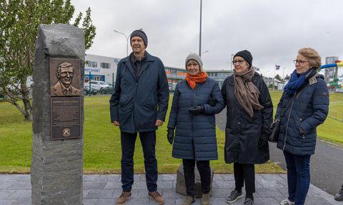 Minnisvarði um föður knattspyrnunnar í Keflavík