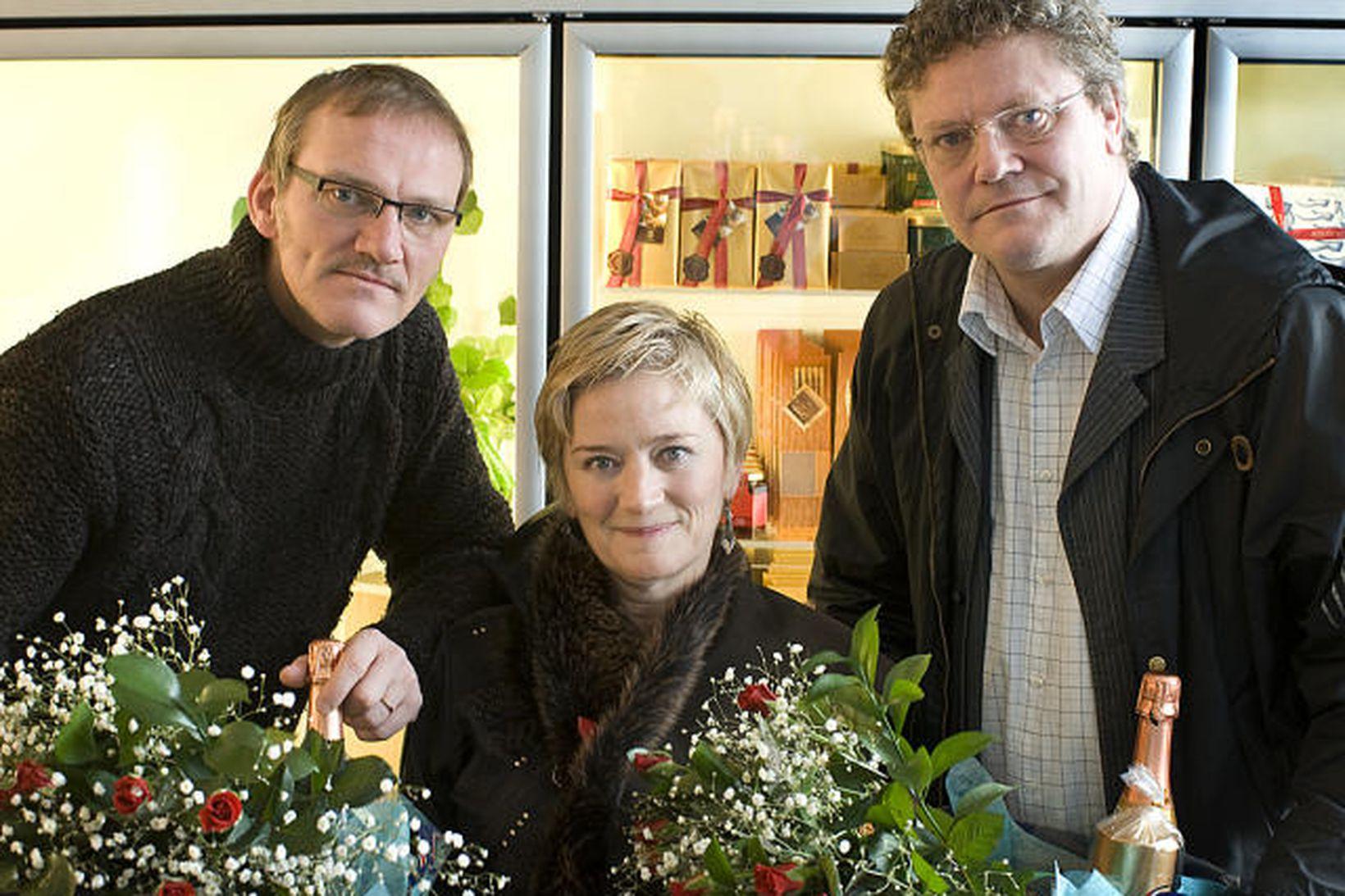 Ingvar E. Sigurðsson, Edda Heiðrún Backman og Páll Eyjólfsson.