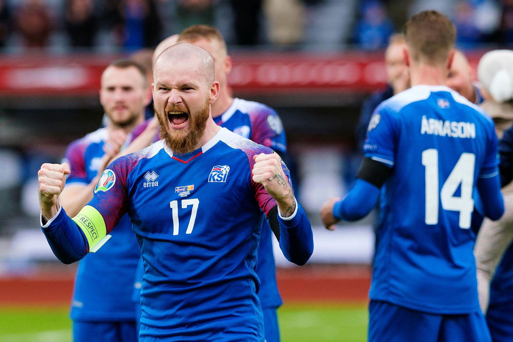 Aron Einar Gunnarsson lék allan leikinn með Al-Arabi.