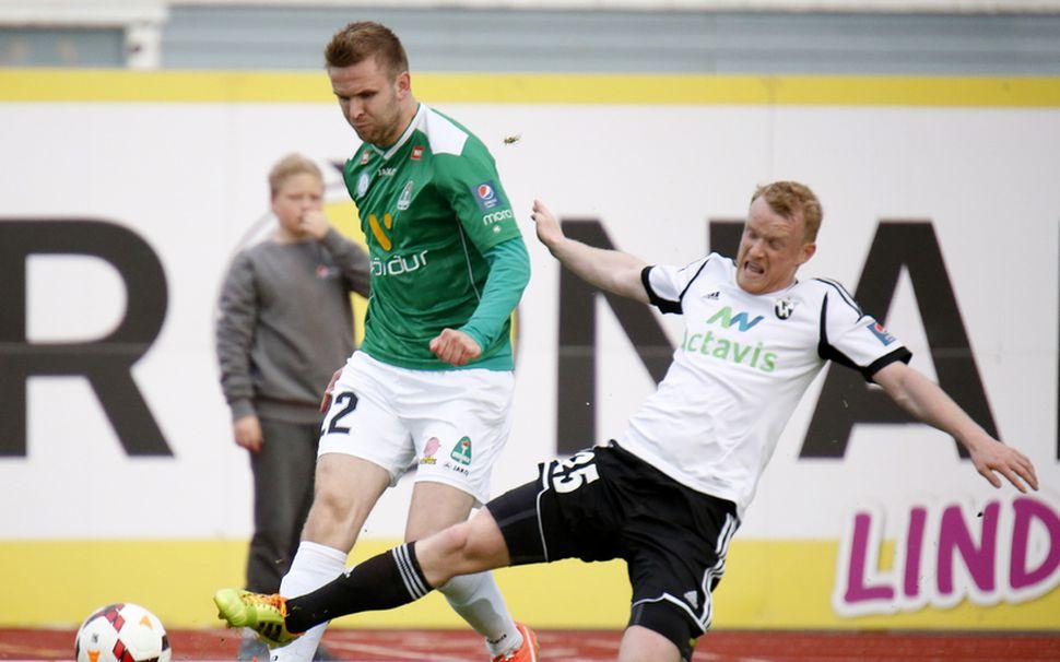 Ellert Hreinsson skoraði tvö mörk fyrir Breiðablik.