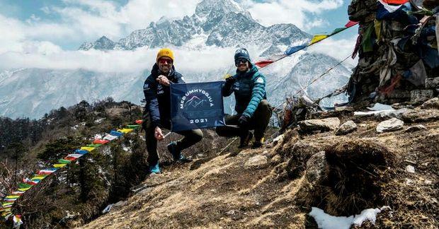 Heimir Fannar Hallgrímsson og Sigurður Bjarni Sigurðsson stefna á topp Everest í maí.