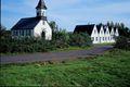 Á Þingvöllum Kirkjan var vígð 1959 en Þingvallabærinn var byggður sem prestsseturshús á árunum 1929-30.