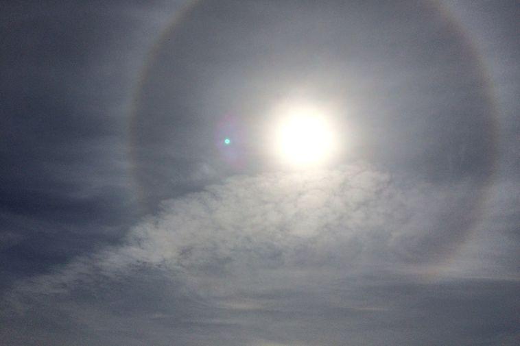 The 22° halo is an optical phenomenon.