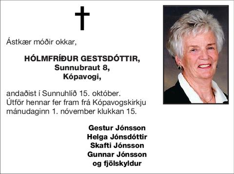 Hólmfríður Gestsdóttir,