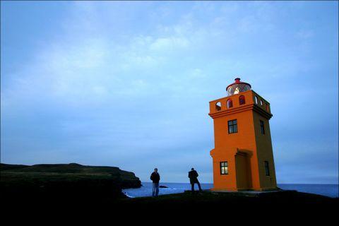 The lighthouse in Grímsey.
