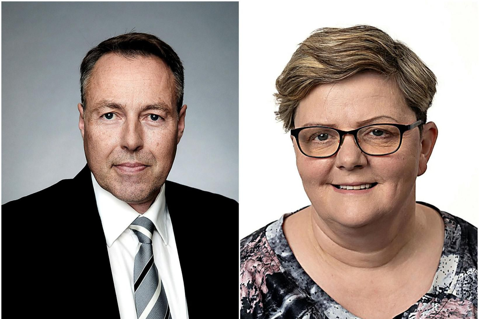 Birgir Þórarinsson og Erna Bjarnadóttir.