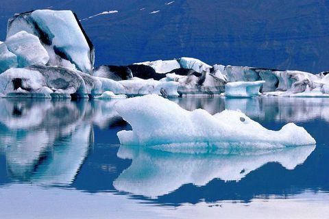 Jökulsárlón glacier lagoon is a popular destination.