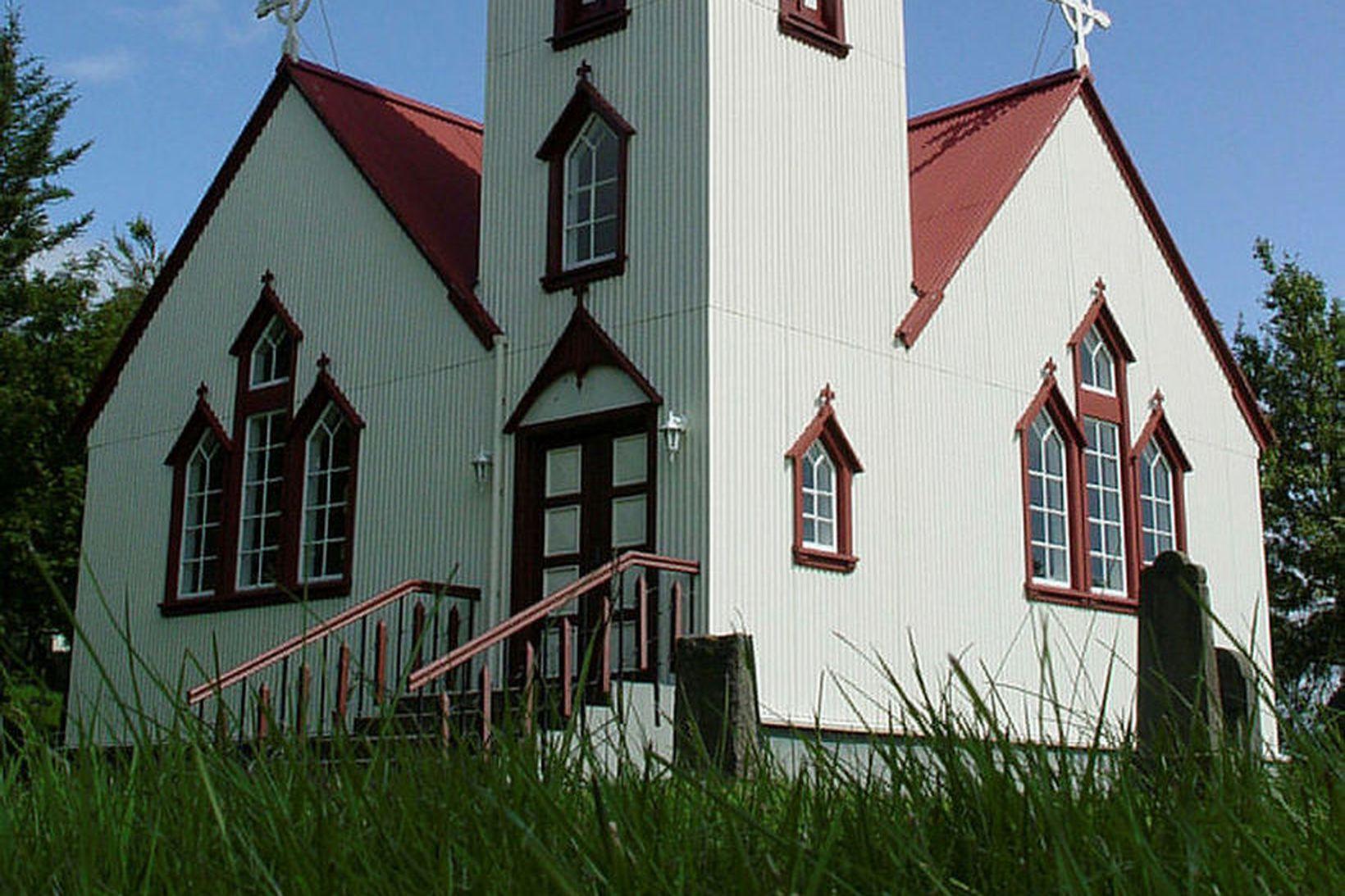 Breiðabólstaðarkirkja á kaleik frá 13. öld.
