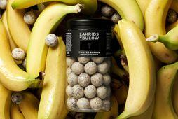 Twisted Banana er ný bragðtegund af lakkrís frá Johan Bülow - fáanlegur í mjög takmarkaðu …