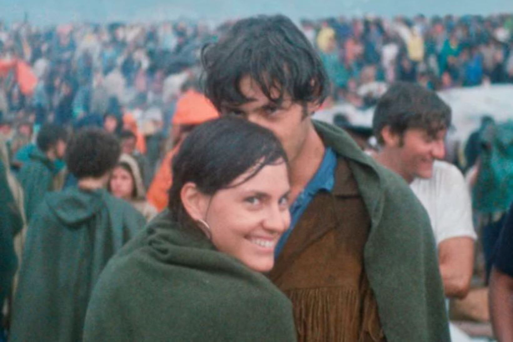 Judy og Jerry Griffin á Woodstock 15. ágúst árið 1969.