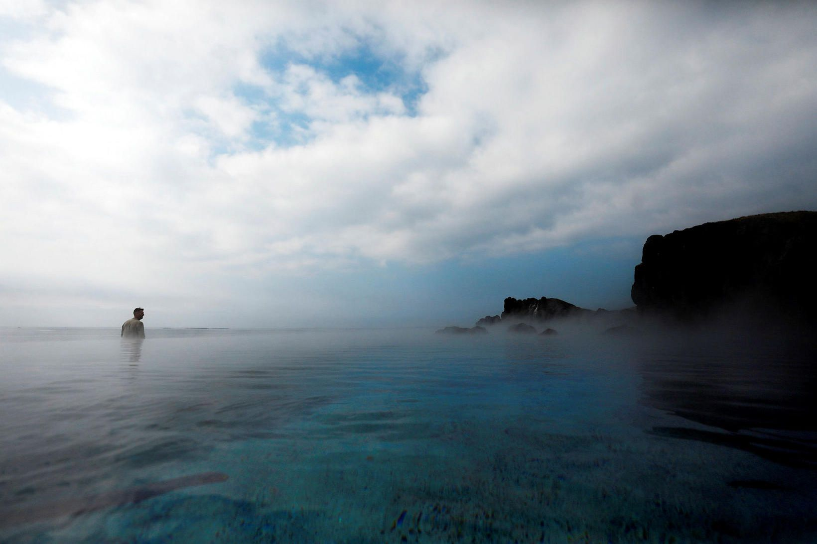 Frá Sky Lagoon.