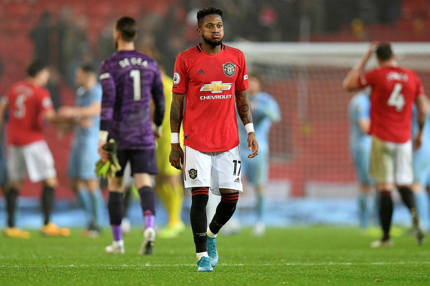 Fred og félagar í Manchester United hafa átt á brattann …