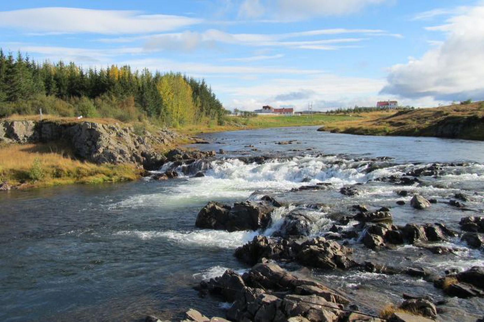 Klettsfoss í Reykjadalsá.
