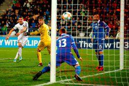 Andrea Belotti skoraði tvívegis fyrir Ítalíu gegn Liechtenstein í kvöld.