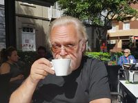 Guðni Már drekkur daglega kaffi á Römblunni, einni frægustu götu Tenerife.