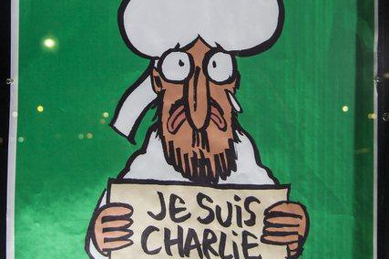 The cover of the French satirical magazine, Charlie Hebdo following the terrorist attack on their …