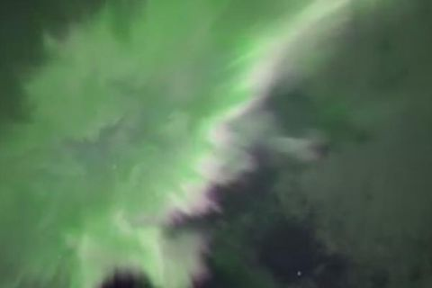 Astronomer Sævar Helgi Bragason captured an  amazing video of Northern Lights last night at Hótel Rangá.