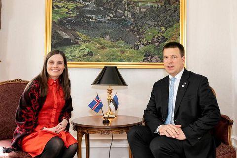 Katrín Jakobsdóttir and  Jüri Ratas.