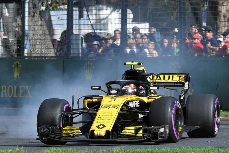 Carlos Sainz á Renault í kappakstrinum í Melbourne.