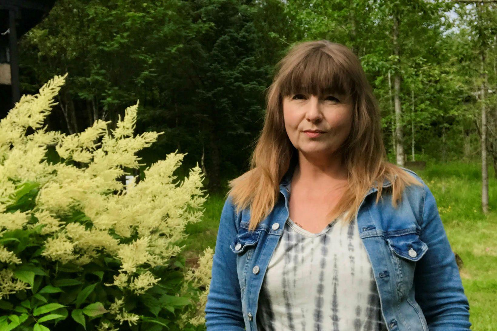 Guðrún Lilja Gunnlaugsdóttir er með fallegt land í Skammadal í …