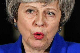 Theresa May ávarpar fjölmiðla fyrir utan Downing-stræti 10 í kvöld.