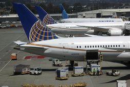 Karlmaðurinn þarf að greiða 6,4 milljónir króna í skaðabætur til United Airlines.