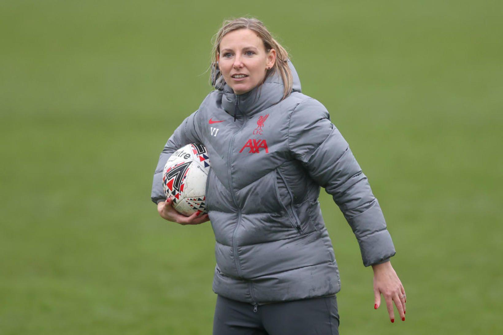 Vicky Jepson hefur stýrt kvennaliði Liverpool frá árinu 2018.