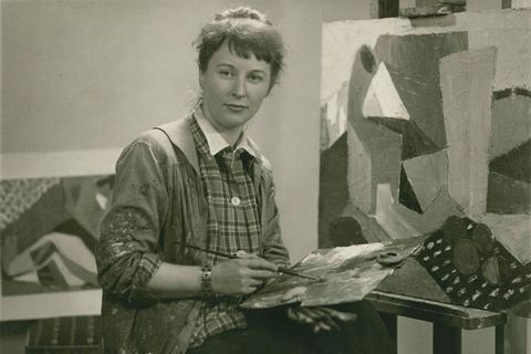 Artist Nína Tryggvadóttir,  1913 – 1968 is one of Iceland's most important abstract expressionist artists.