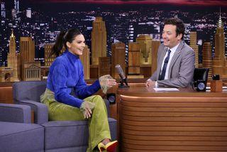 Kendall Jenner er tíður gestur í settinu hjá Jimmy Fallon.