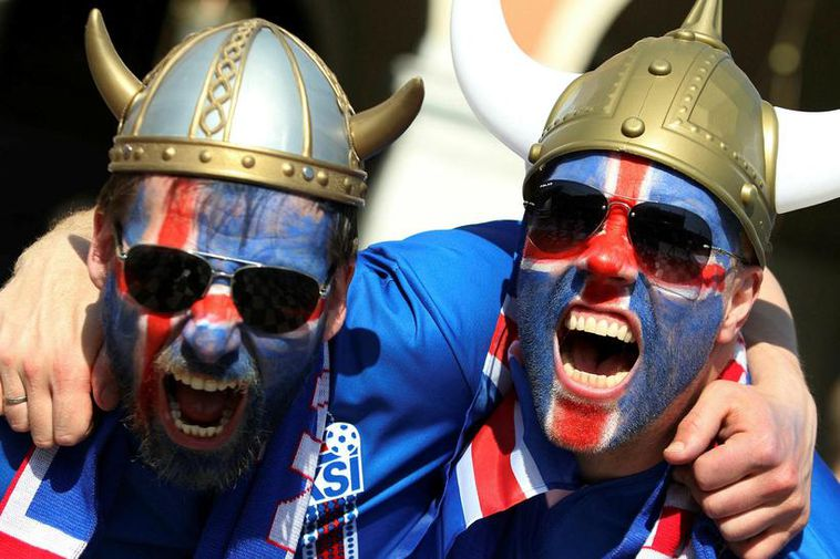 "Icelandic ""Vikings"" in Nice, France during the European championships last summer."