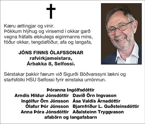 Jóns Finns Ólafssonar