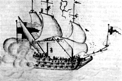 The Gothenburg ran aground in Iceland in 1718.