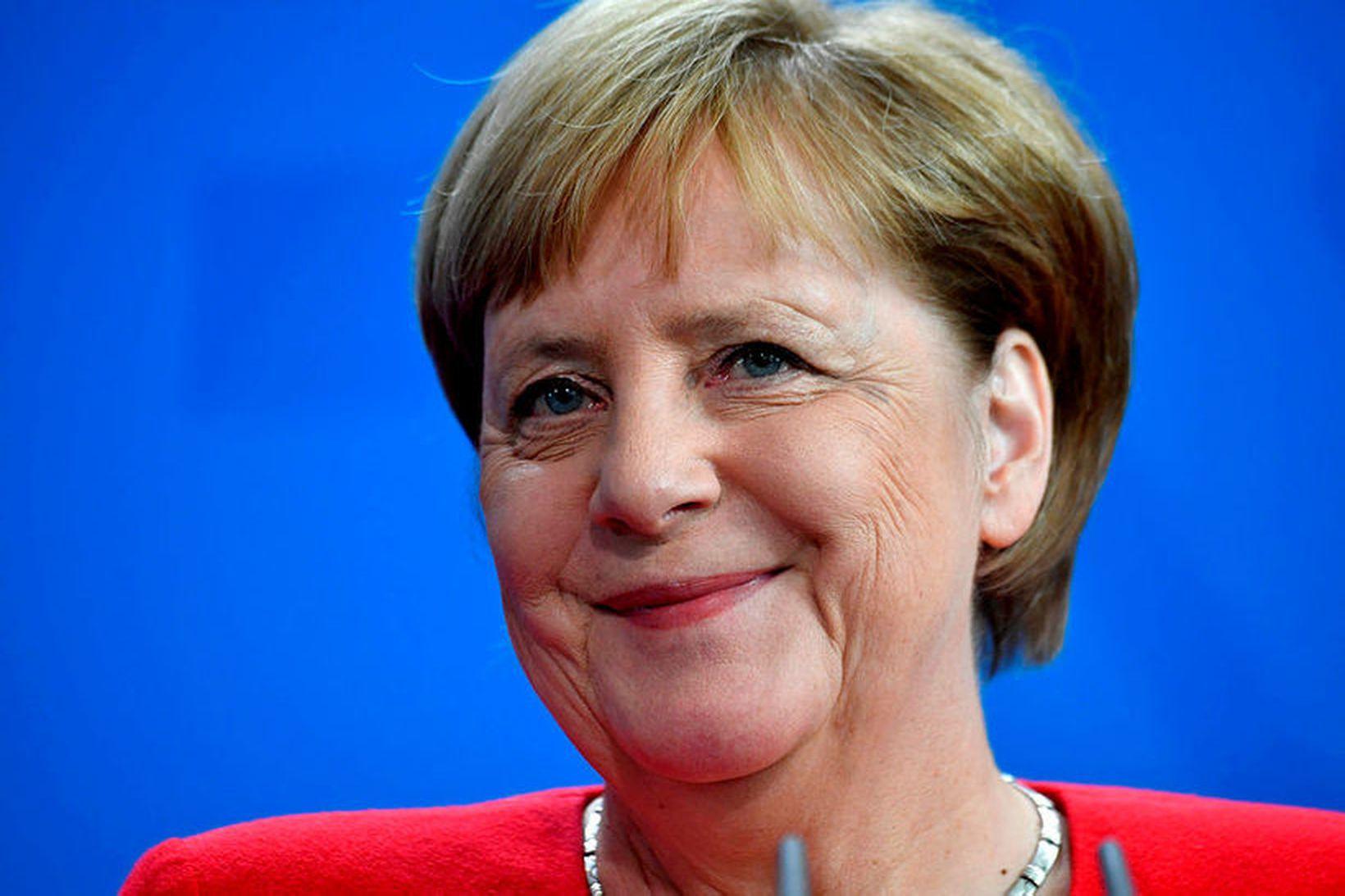 Angela Merkel, kanslari Þýskalands, er væntanleg til landsins.