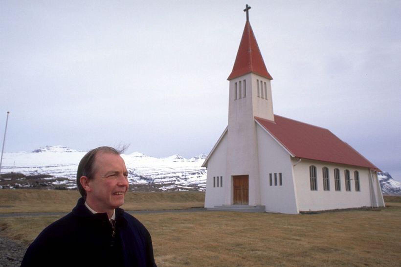 Gunnlaugur Stefánsson prestur í Heydölum er formaður Veiðifélags Breiðdæla. Hann …