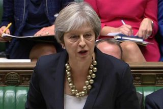 Forsætisráðherra Bretlands, Theresa May.