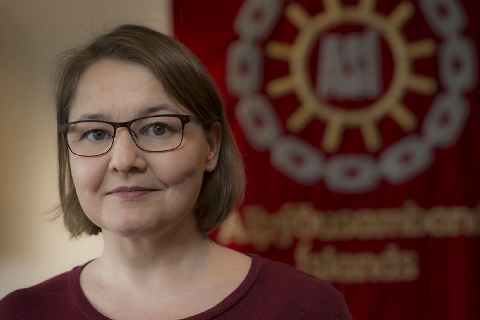 Drífa Snædal, forseti ASÍ, hvetur fólk til að kynna sér …