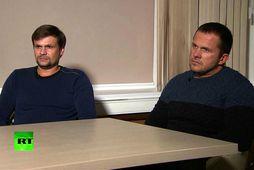 Alexander Petrov og Ruslan Boshirov.